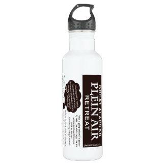 Botella De Agua Citas en artista de la pintura del aire de Plein