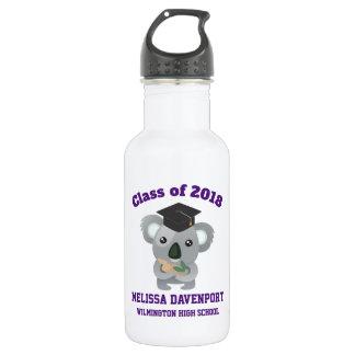 Botella De Agua Clase de oso de koala lindo 20xx en casquillo de