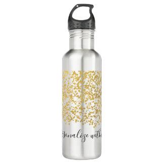 Botella De Agua Confeti atractivo del oro personalizado