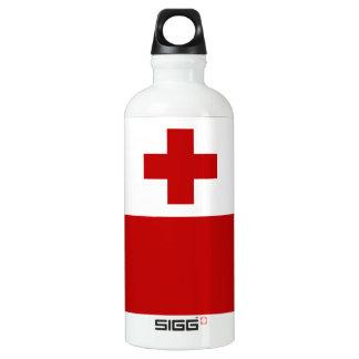 Botella De Agua Cruz Roja de la bandera de la isla de Tonga