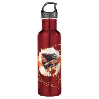 Botella De Agua Cubierta de la enciclopedia de la Mujer Maravilla