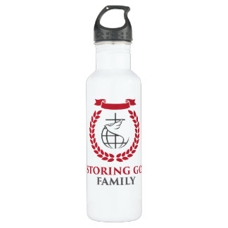 Botella de agua de acero blanca de RGF 24oz