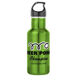 Botella de agua de encargo del campeón del pong de