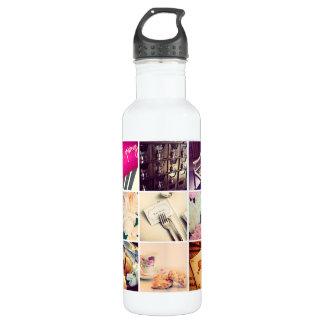 Botella de agua de encargo del collage de la foto
