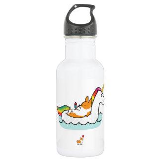 Botella de agua de Floatie del unicornio del Corgi