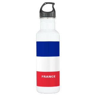 Botella de agua de la bandera de Francia
