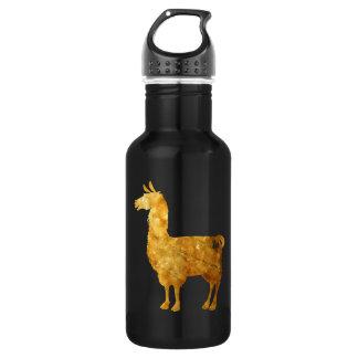 Botella de agua de la llama del oro