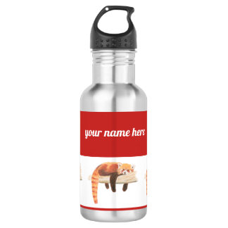 Botella de agua de la panda roja, enfriándose