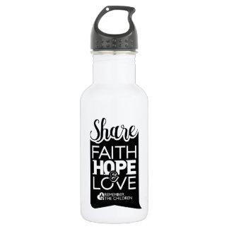 Botella de agua de la parte