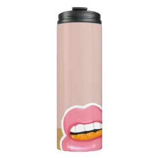 Botella de agua de los labios