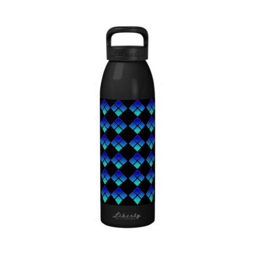 Botella de agua de medianoche del diamante