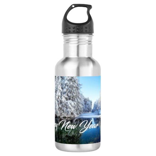 Botella de agua del Año Nuevo