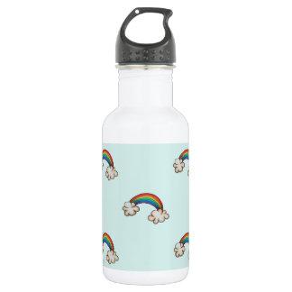 Botella de agua del arco iris