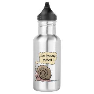 Botella de agua del caracol del dibujo animado