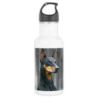 Botella de agua del Doberman