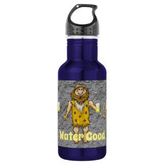 Botella de agua del hombre de las cavernas