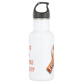 Botella de agua del ms que lucha
