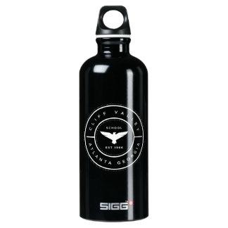 Botella de agua del negro de la insignia del CV