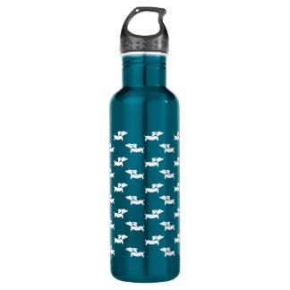 Botella de agua del perro de la salchicha de