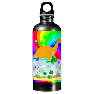 Botella De Agua Dinosaurio del pixel del Diplodocus