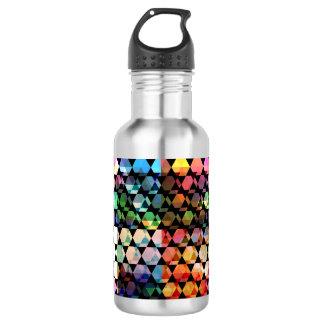 Botella De Agua Diseño gráfico del hexágono abstracto
