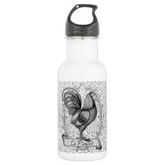Botella De Agua Ejemplo del pollo del vintage