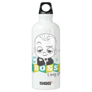 Botella De Agua El bebé de Boss el   soy Boss. Digo. Usted hace