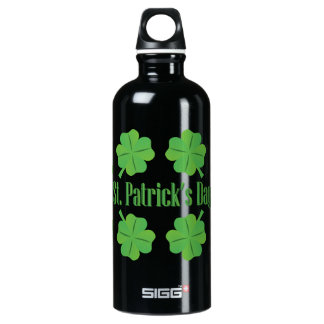 Botella De Agua El día de St Patrick con el trébol