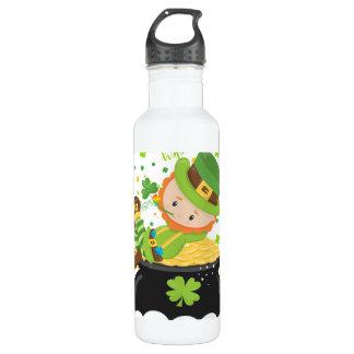 Botella De Agua El Leprechaun del arroz del St