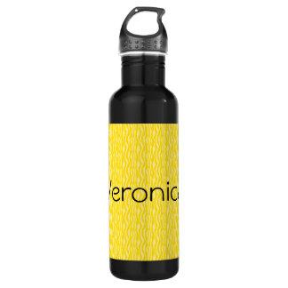 Botella De Agua El modelo amarillo del estampado de zebra