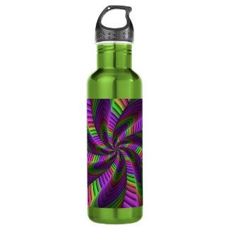 Botella De Agua El neón colorea el modelo colorido loco de