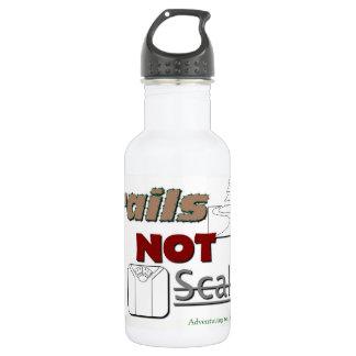 """Botella de agua """"escalas del metal de los rastros"""