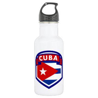 Botella De Agua Escudo cubano de la bandera