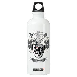 Botella De Agua Escudo de armas del escudo de la familia de Owen