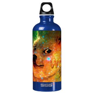 Botella De Agua espacio - dux - shibe - guau dux