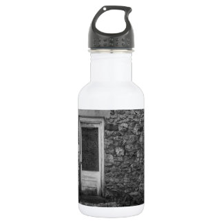 Botella De Agua Este viejo Grayscale de la pared de la roca