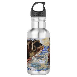 Botella De Agua Extracto azul de la entrada