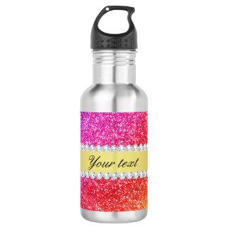 Botella De Agua Falsos diamantes del brillo del arco iris