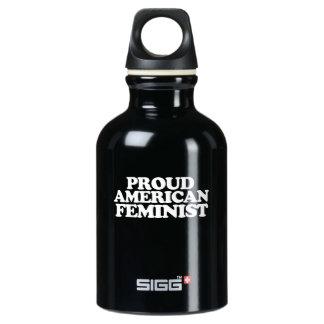Botella De Agua Feminista americana orgullosa