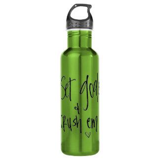 Botella De Agua Fije sus metas