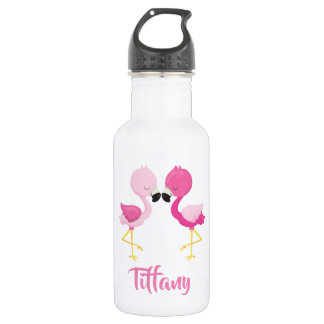 Botella De Agua Flamencos rosados preciosos para usted