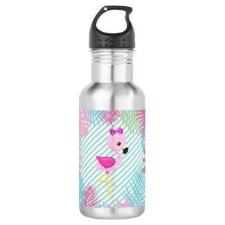 Botella de Agua Flamingo Rosa