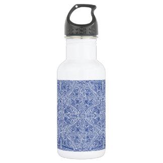 Botella De Agua Flujo elegante azul