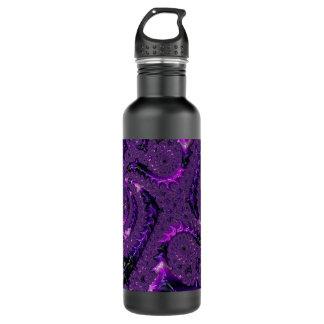 Botella De Agua Fractal púrpura