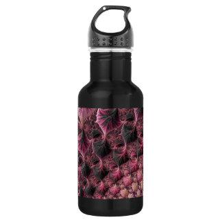 Botella De Agua Fractal rosado