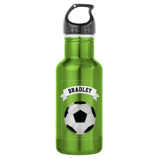 Botella De Agua Fútbol el | del fútbol de los niños personalizado