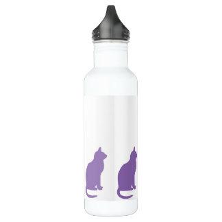 Botella De Agua Gatos púrpuras