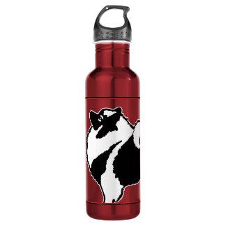 Botella De Agua Gráficos del Keeshond - arte original lindo del