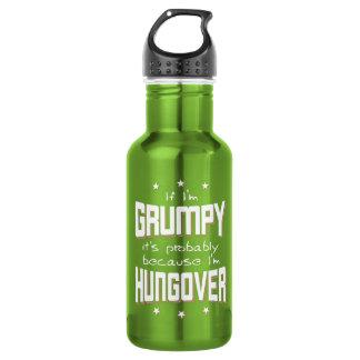 Botella De Agua GRUÑÓN porque es HUNGOVER (blanco)