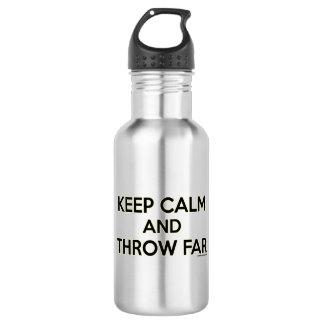 Botella De Agua Guarde la calma y láncela lejos, regalo